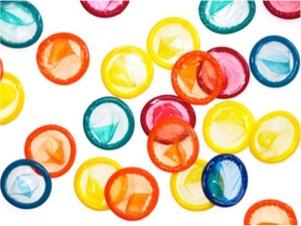 Colorful condoms.