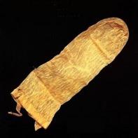 A linen sheath used as a barrier method.