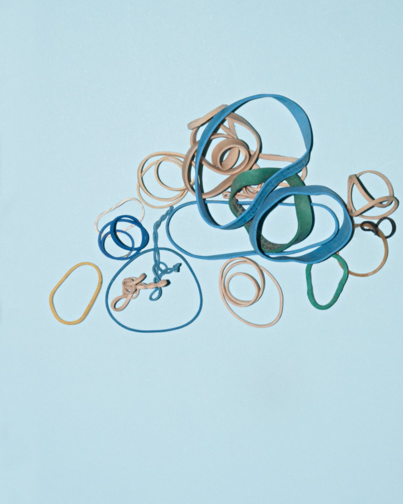 A variety of rubber bands.