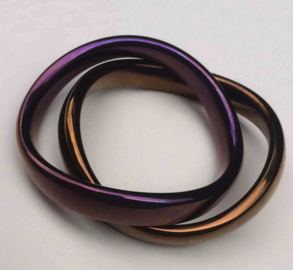 A pair of cock rings.