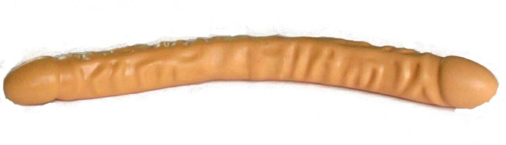 A double-sided dildo.