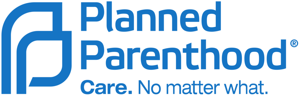 """Planned Parenthood logo with slogan """"Care. No matter what."""""""
