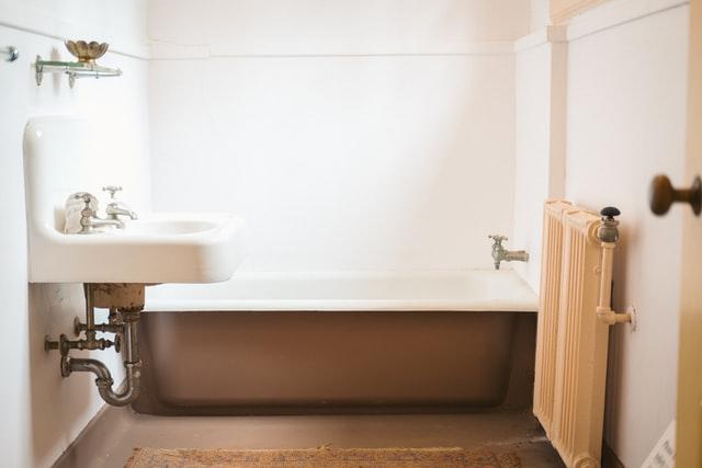 A bathtub and sink.